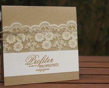 Faire part mariage dentelle : une idée chic et originale pour annoncer vos noces !