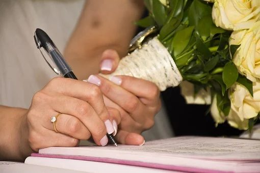 signature acte de mariage