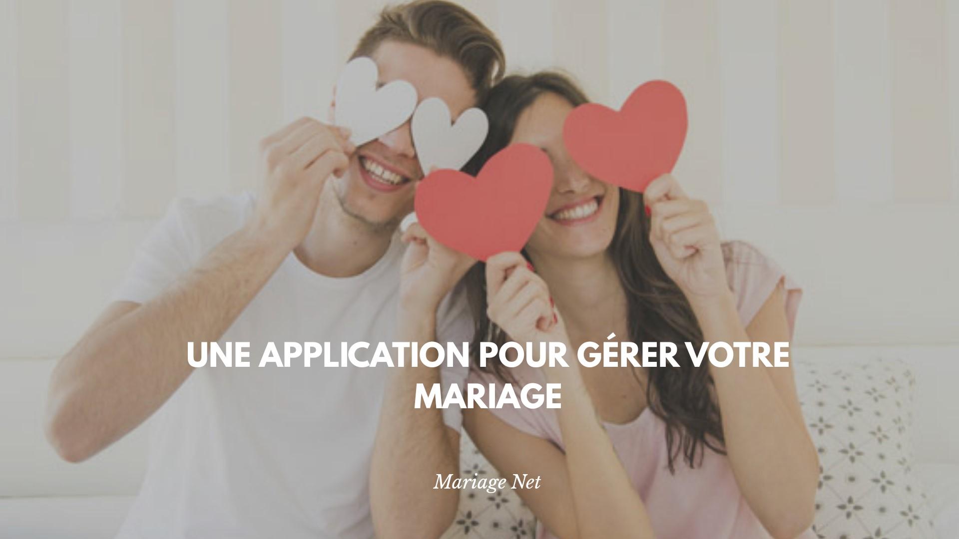 app gestion mariage