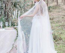Un peigne comme accessoire de coiffure pour un mariage hivernal
