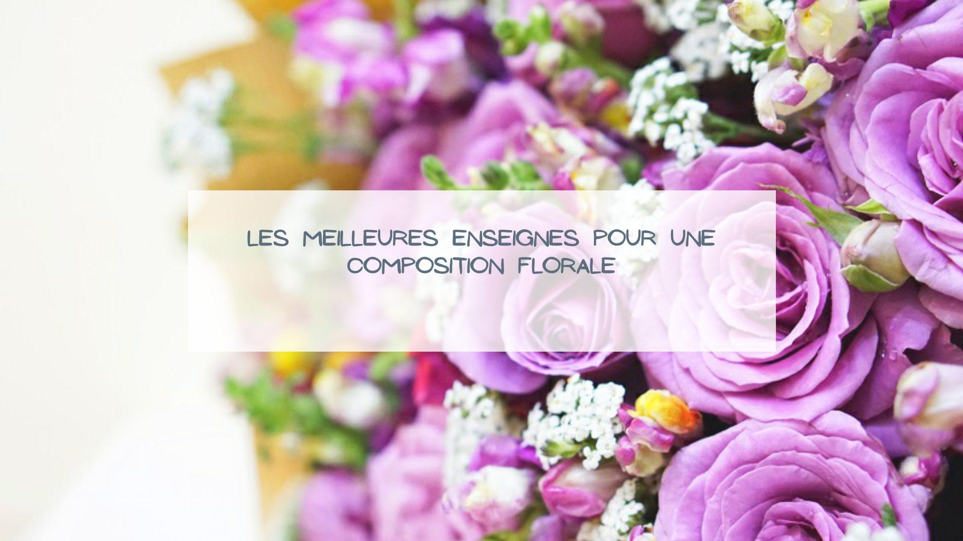 enseigne composition florale