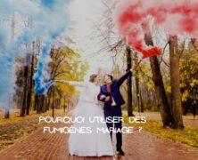 S'offrir des photos de mariage féériques avec des fumigènes colorés