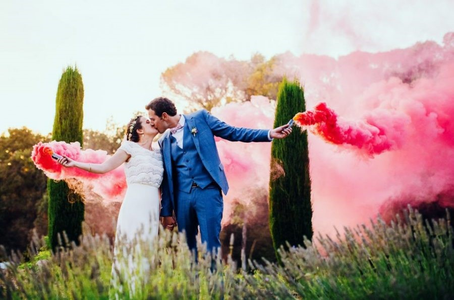 fumigènes mariage